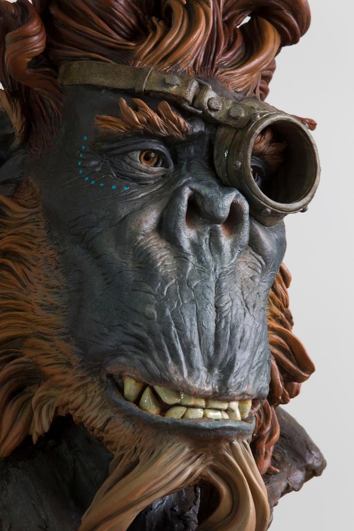 steampunk monkey close up by renemarcel27