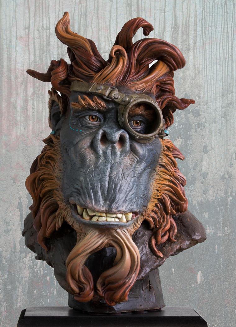 steampunk monkey by renemarcel27