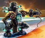 Calypsis Davyn the Steel Siren by MichaelPatrick42
