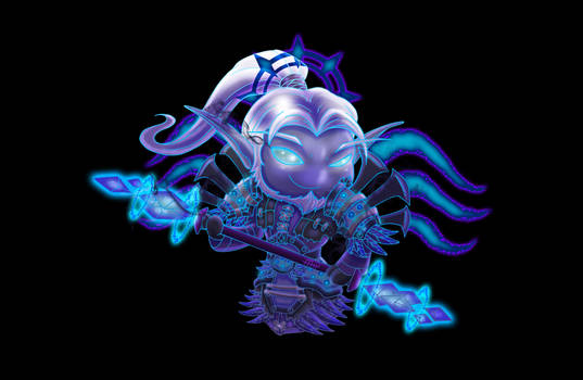 Wow Chibi Night Elf Shadow Priest