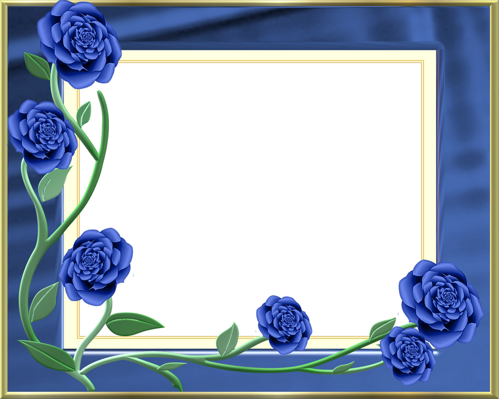 Frame Blue With Roses By LaShonda1980 On DeviantArt