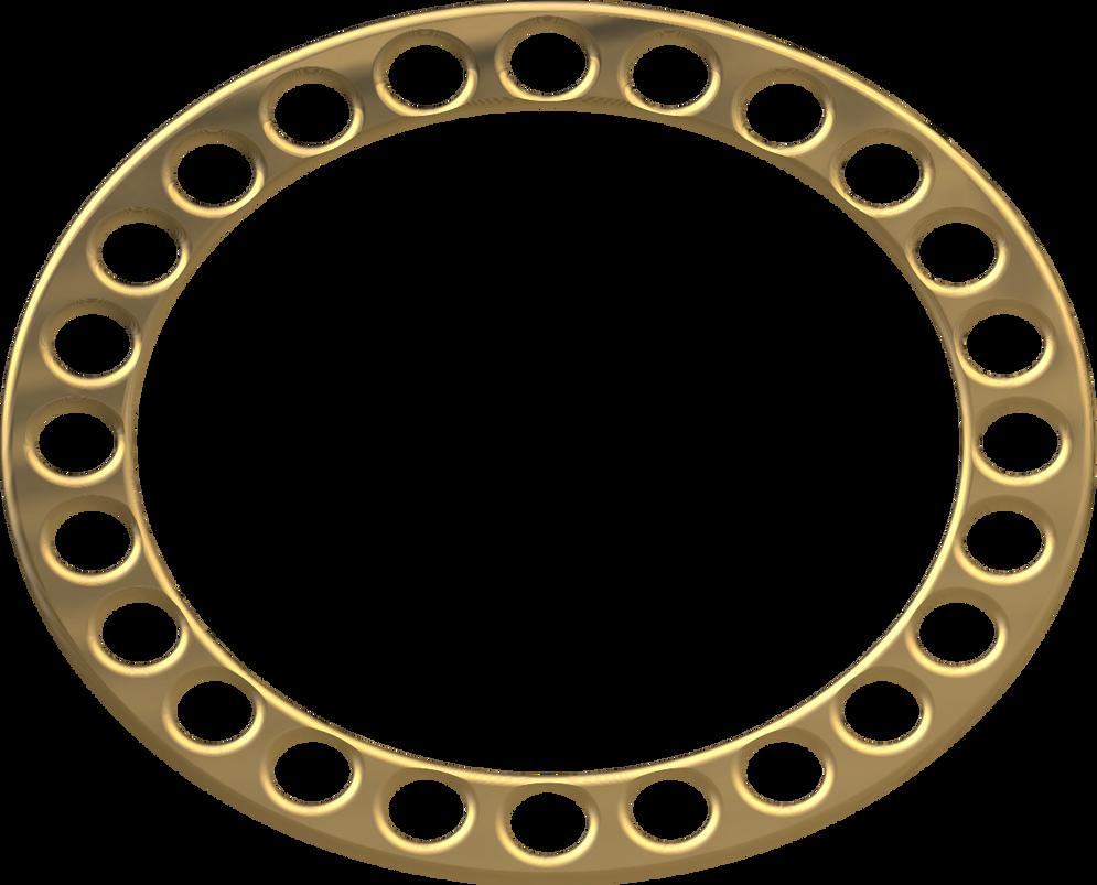 Gold Oval Frame By LaShonda1980