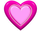 Pink Heart with pearls