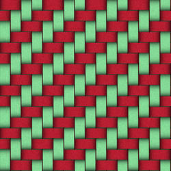 red and green weave by LaShonda1980