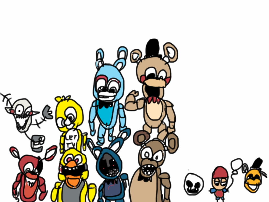 fnaf cute animatronics coloring pages - photo #41