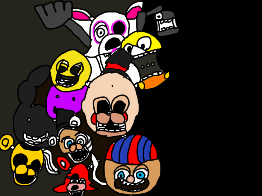 All animatronics five nights at freddys 2 by angelocraft2007 on