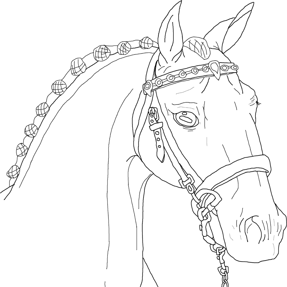 Show Horse Lineart 94681785 on digital watermark for free