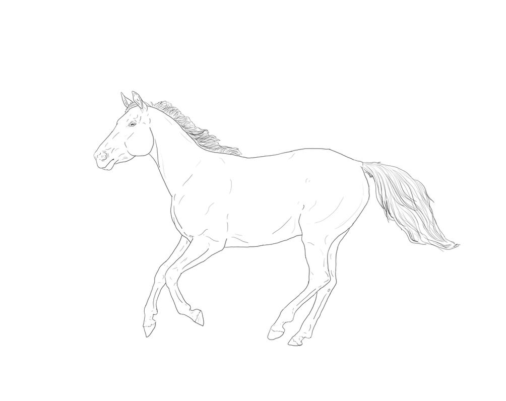 Running thoroughbred by tobiteus on deviantart for Thoroughbred coloring pages