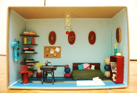 mini craft room by boredandcrafty
