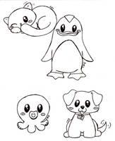 really cute animals by bakaUO