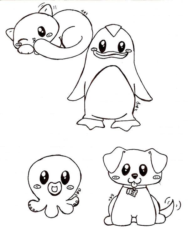 really cute animals by bakaUO on DeviantArt
