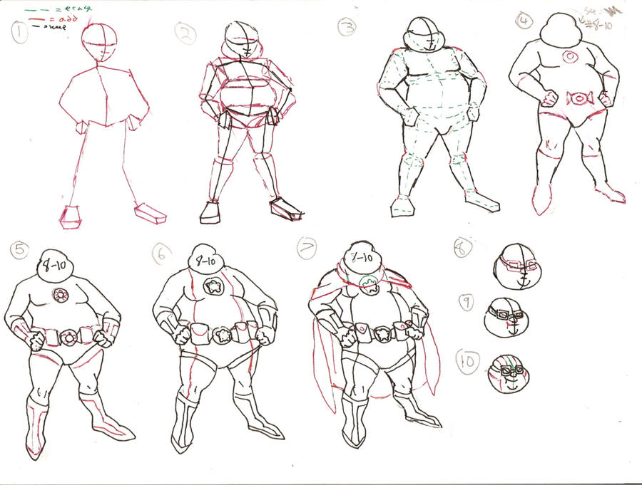 how to draw fat bodies