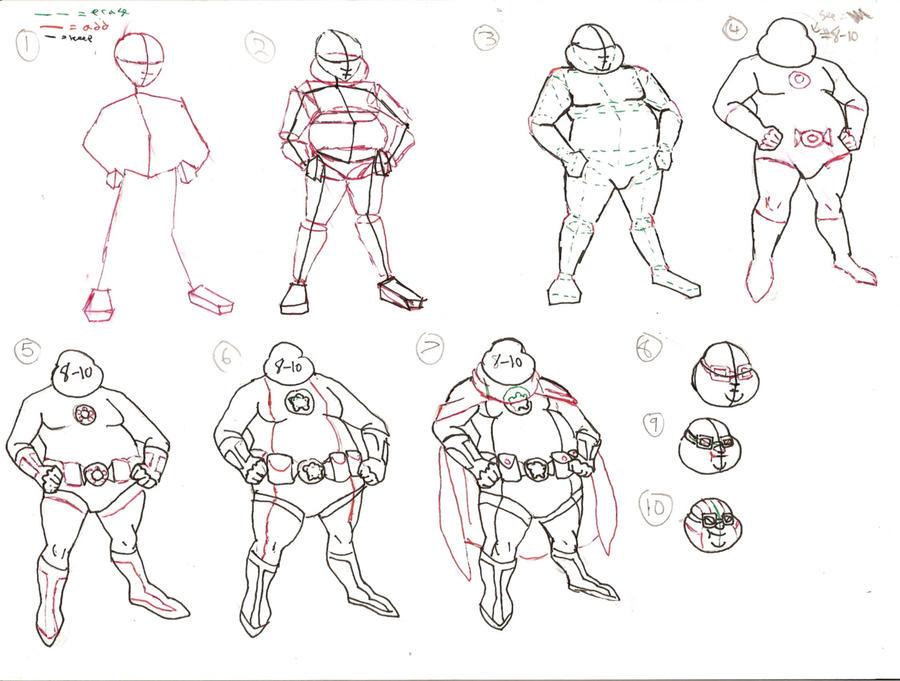 Fat Man Drawing 102