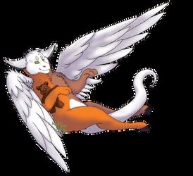 Flying Teddy! by Dorky-Wolfen