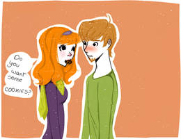 Shaggy and Daphne by Natsumiland