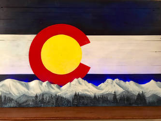 Colorado Mountains Woodworking Project by whitewizardlotr