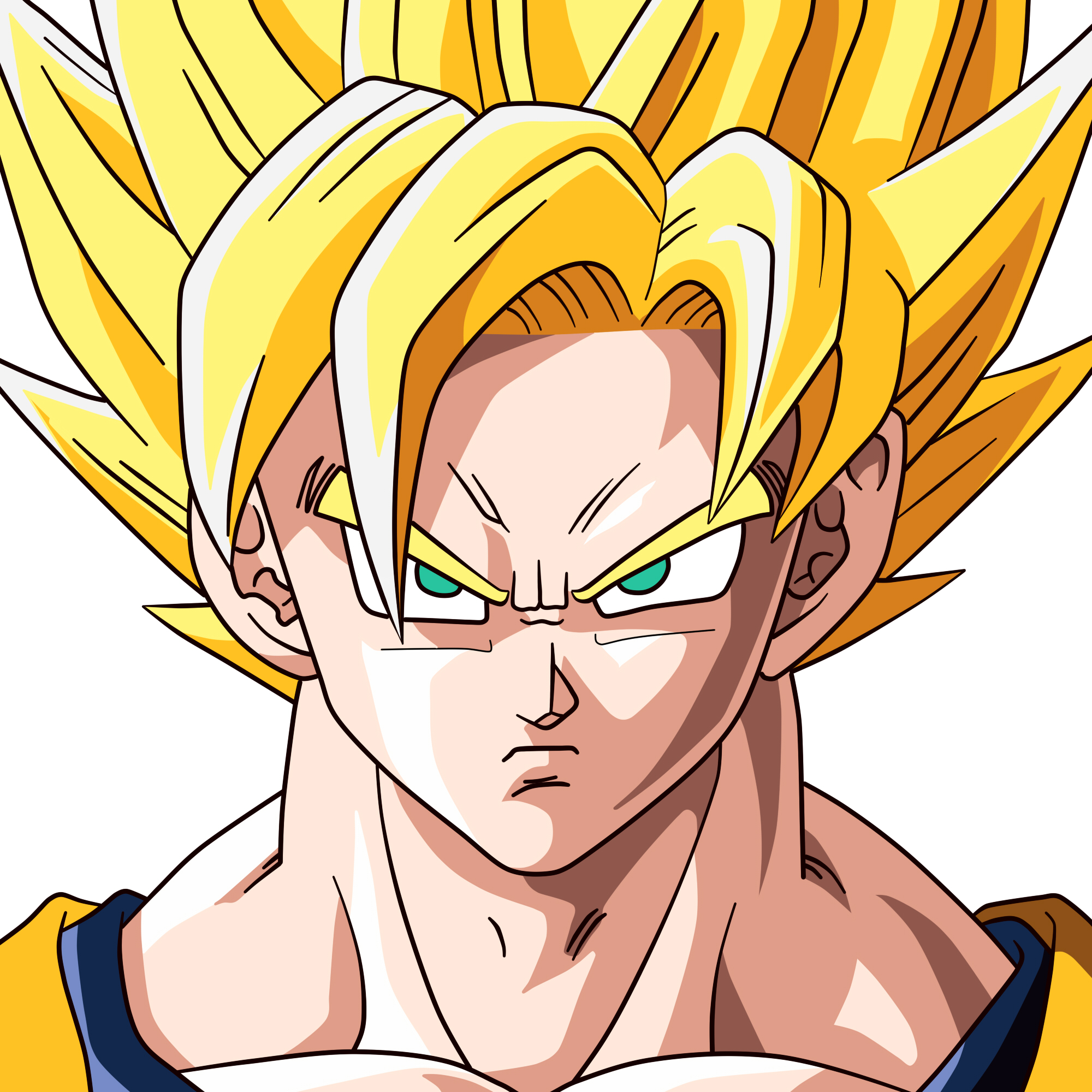 Goku super saiyan by jeffthesupersaiyan on deviantart - Goku super sayen ...