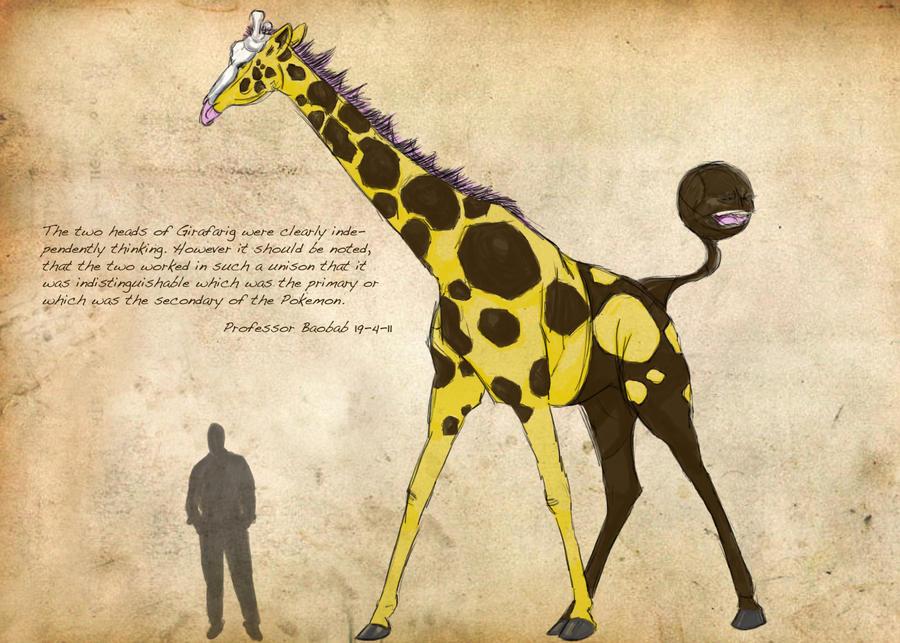 Field Guide: Pg. 2 Girafarig by CasteelArt