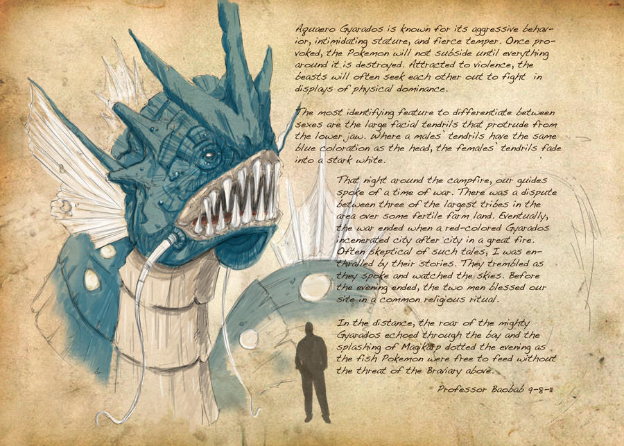 Field Guide: Pg. 33 Gyarados by CasteelArt