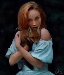 Fox cub by Lyraven