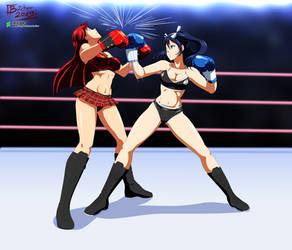 Commission: Yumi vs Elizabeth 1 by ButcherStudios