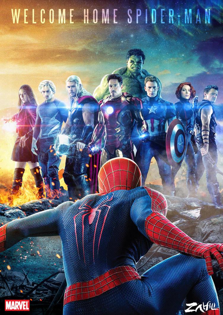 Avengers Welcome Spiderman by zahili