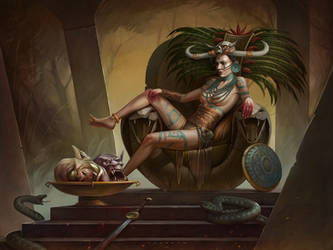 Queen of the Black Marsh by ozornin-ART