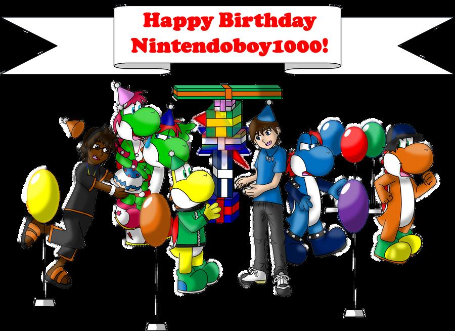 Itsyo B-day Nintendoboy1000 by AwsmYoshi
