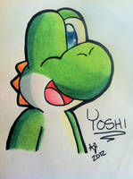 Simple Yoshi Doodle (video link in description!) by Jei-ice