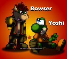 Bowser and Yoshi by Jei-ice