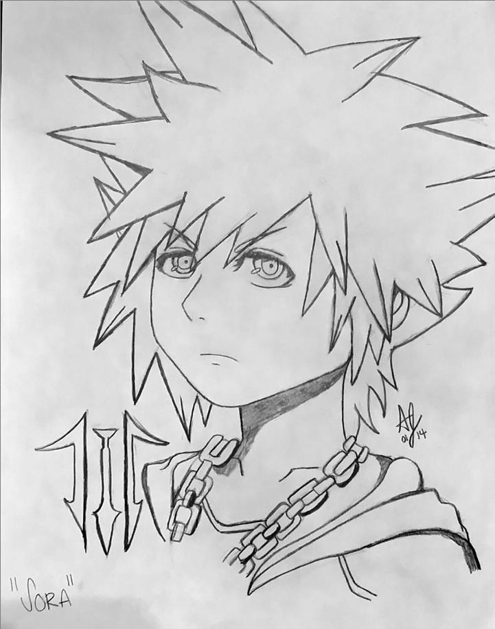 1st Sora Doodle: Square-Enix Style by AwsmYoshi