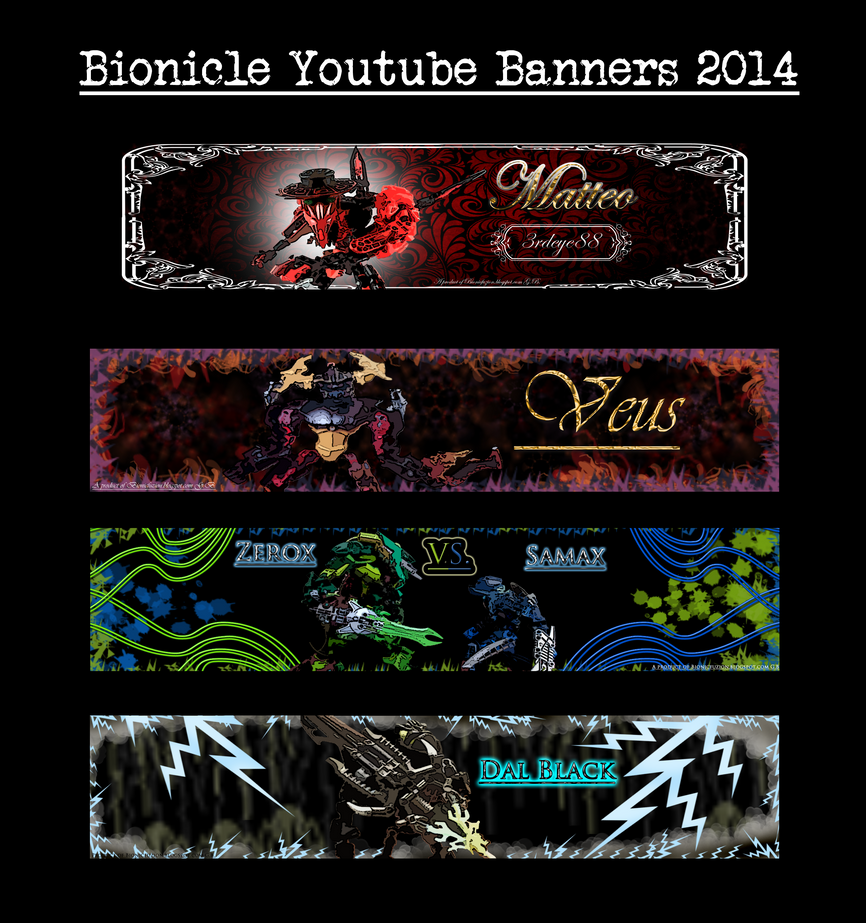 Bionicle YT banners 2014 set 2 by Pearllight180