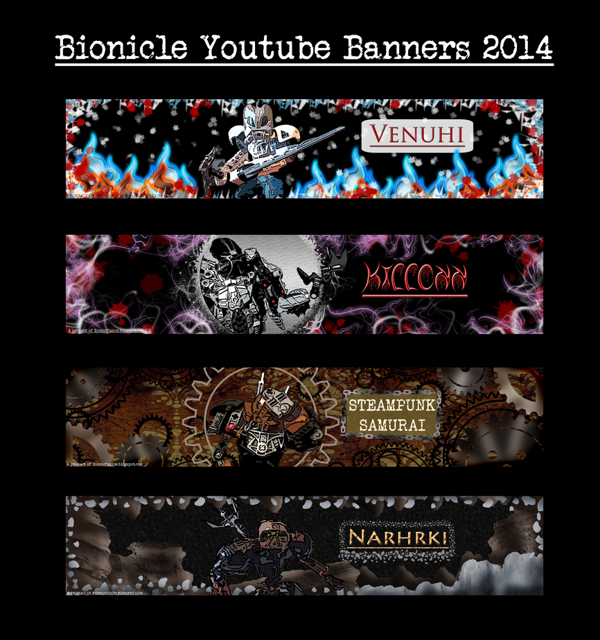 Bionicle YT banners 2014 set 3 by Pearllight180