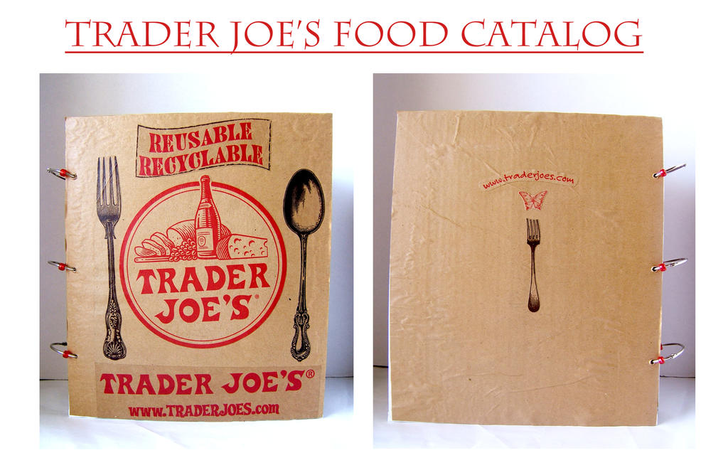 How To Make A Book Cover With A Trader Joe S Bag : Trader joe s food catalog journal by pearllight on