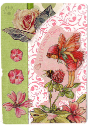 Red Clover Fairy ATC by Pearllight180