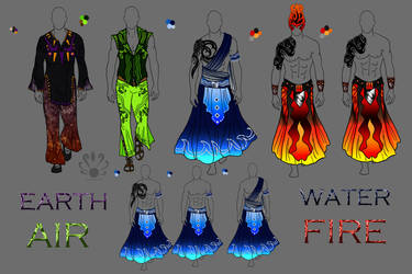 Four Elements- Bionicle based Male Fashion by Pearllight180