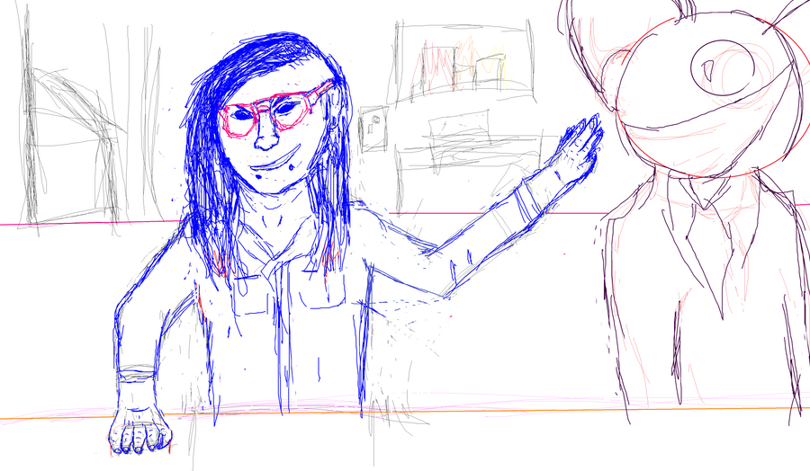 Skrillex and Deadmau5 WIP by PsychtehWolf