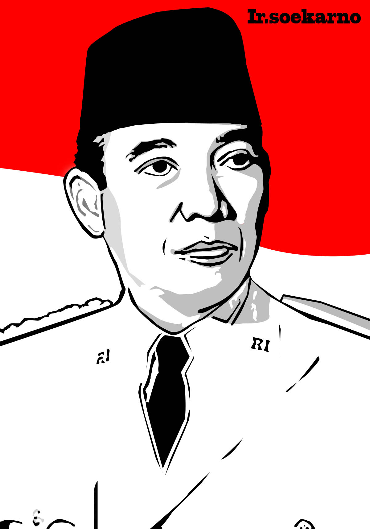 vector ir soekarno by anhartdesign on deviantart vector ir soekarno by anhartdesign on