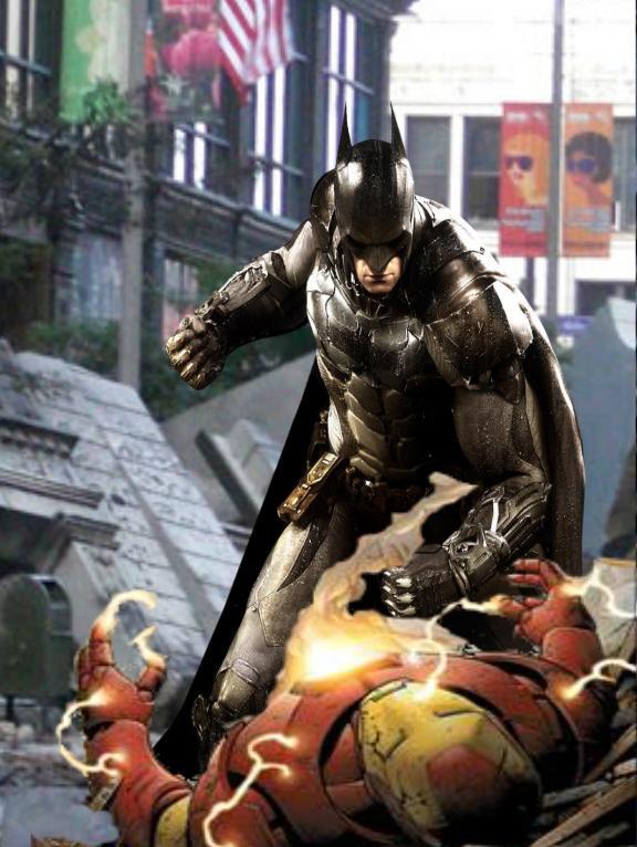 batman vs iron man by aurahero7 on deviantart