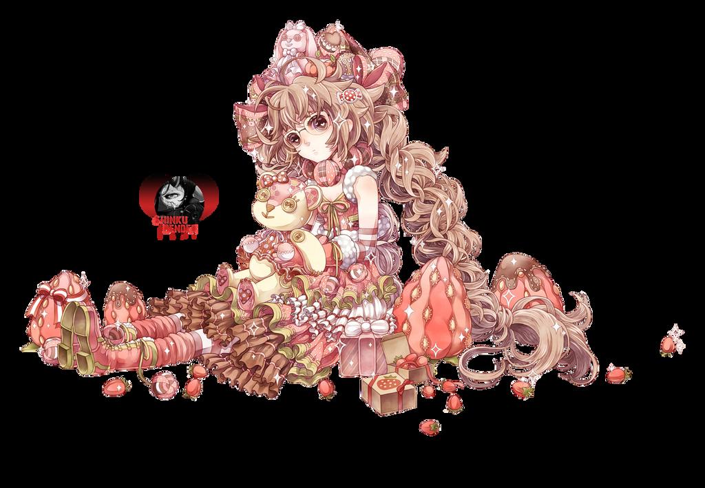 Renders Mangas Divers  Dessert_girl_render_by_shinkunekita-d75gx4p