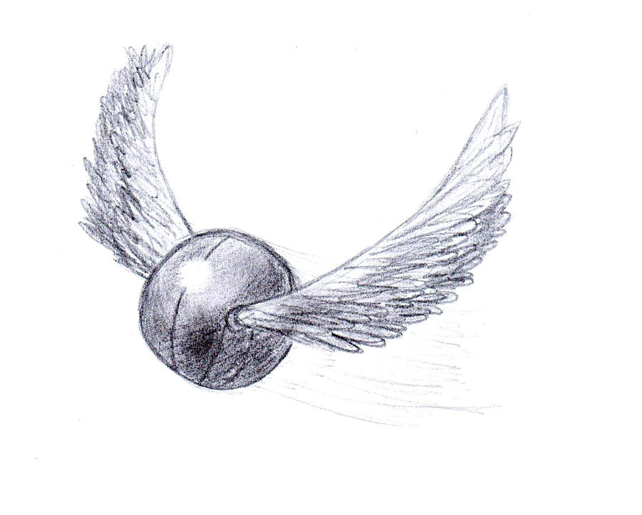 It is a picture of Inventive Harry Potter Snitch Drawing