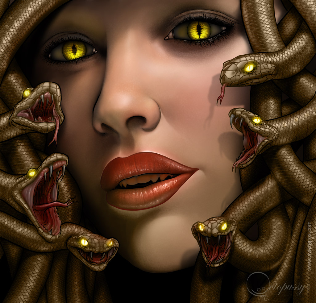 Les Transformation d'Elise. Gorgon_by_viviengros-d4lk75w