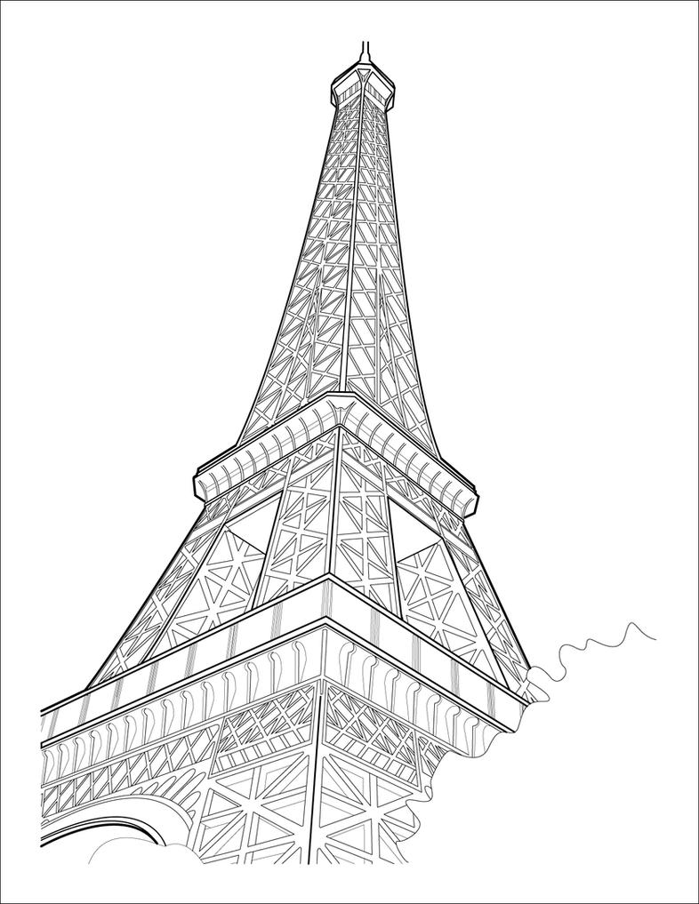 Line Art Eiffel Tower : Eiffel tower by kcbiehl on deviantart