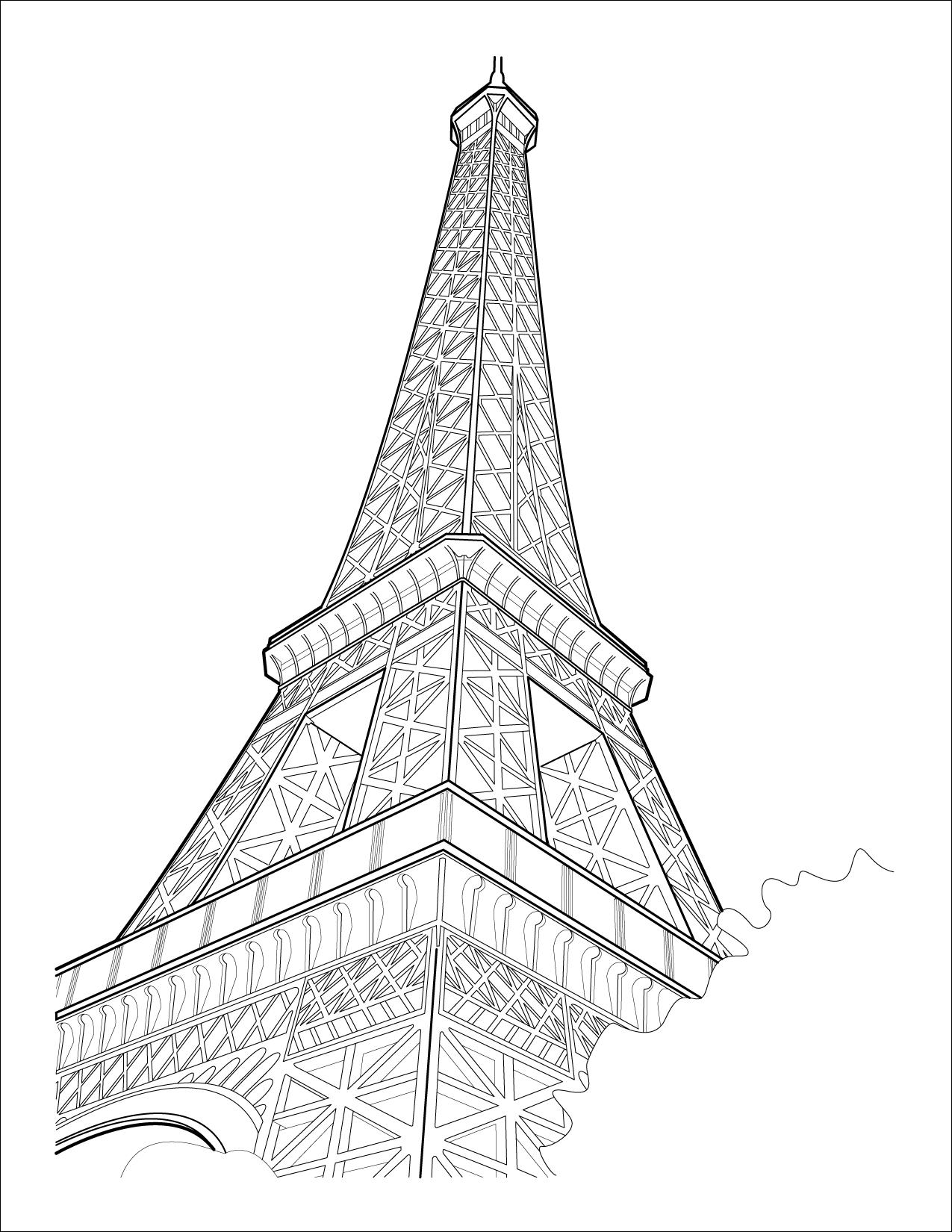 Line Drawing Eiffel Tower : Eiffel tower by kcbiehl on deviantart