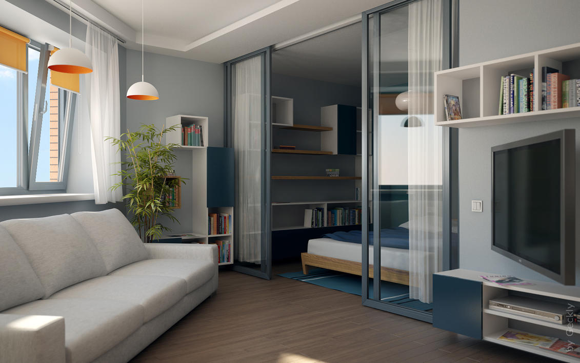 Small flat 002 by geckly on deviantart Flat interior design images