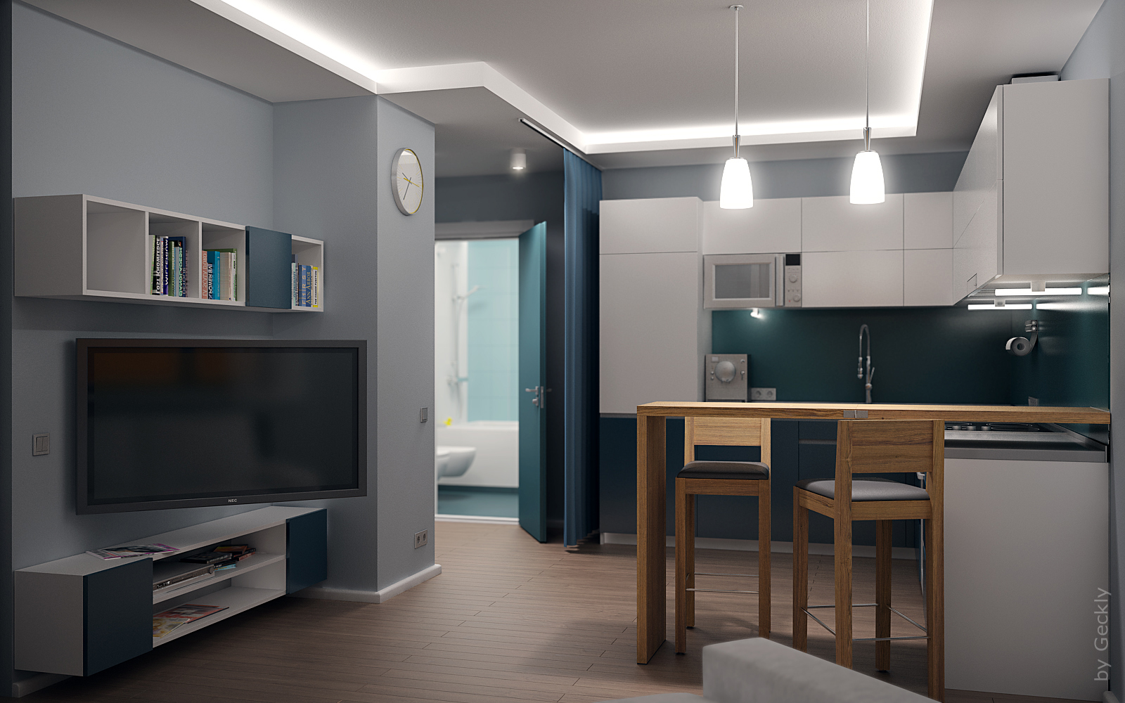 Small flat 003 by geckly on deviantart Flat interior design images