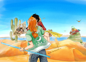 Luffy x Nami :: Art Trade - Stromer by Opirou