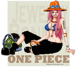 Bonney x Ace :One Piece Collection: by Opirou