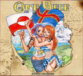 Nami and Nojiko - From the 7 Seas by Opirou