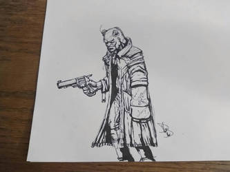 Hellboy Sketch by arachnidbethlehem